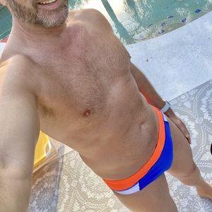 Timoteo Blue Freestyle Swim Brief -Medium-